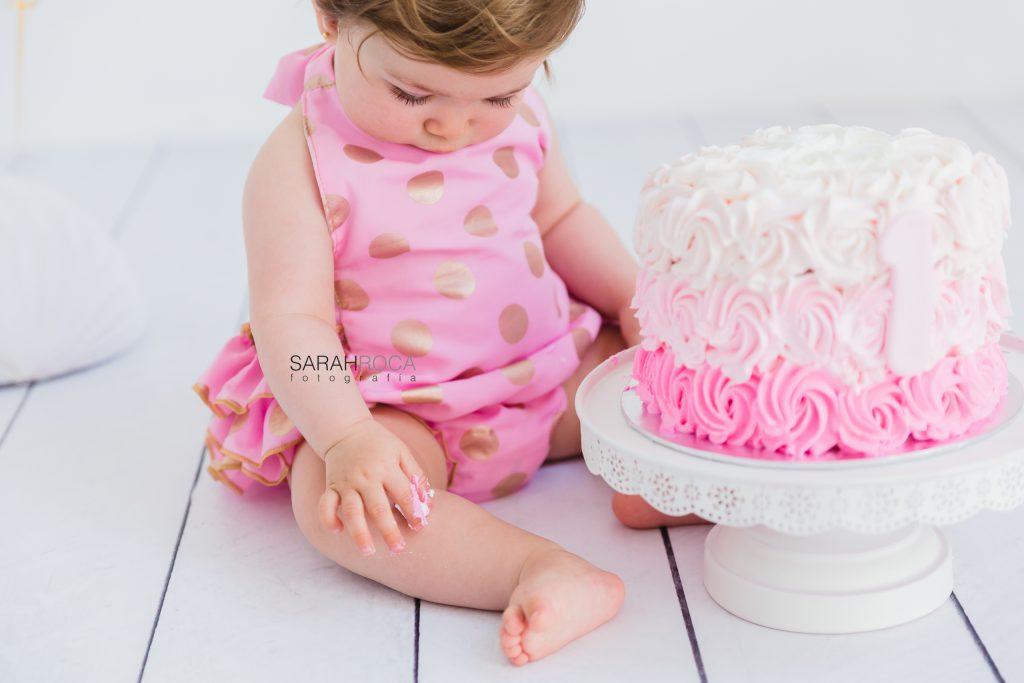 Fotografia de cake smash en madrid guadalajara torrejon